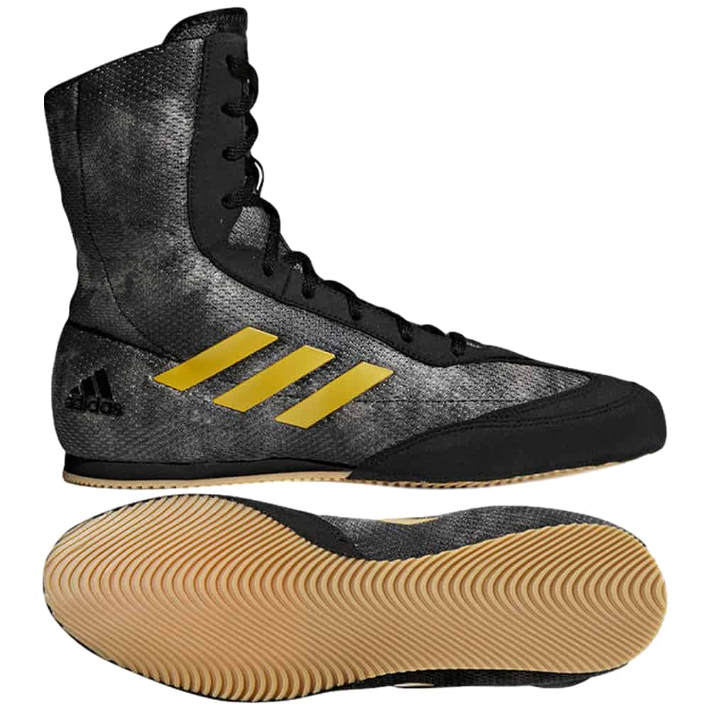 Adidas Box Hog Plus Boxing Shoes Core Black/Gold
