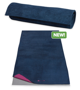 Gaiam No Slip Grippy Mat Towel Navy