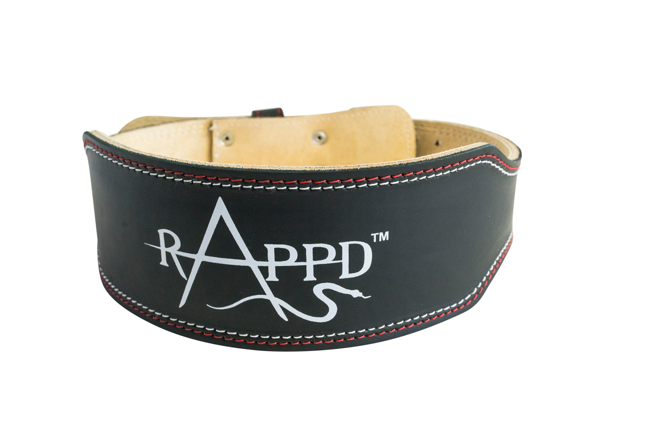 """RAPPD 6"""" Leather Weightlifting Belt"""