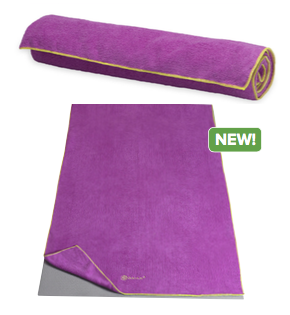 Gaiam Plum Citron Thirsty Mat Towel
