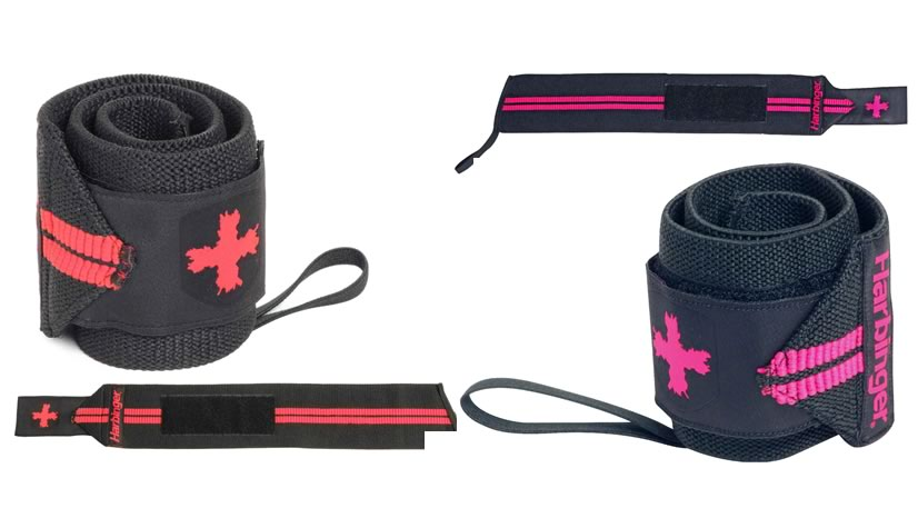 Harbinger Red and Pink Line Wrist Supports
