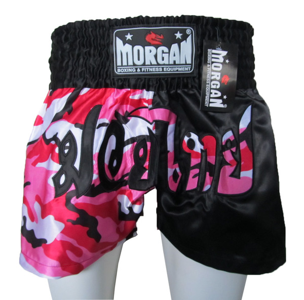 Morgan 50/50 Diabla Muay Thai Shorts Pink Black