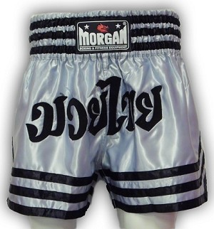 Morgan Muay Thai Shorts Silver