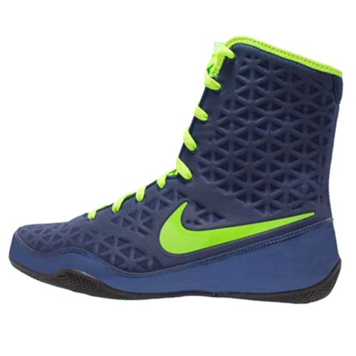 Nike KO Boxing Boots - Navy/Electric Green