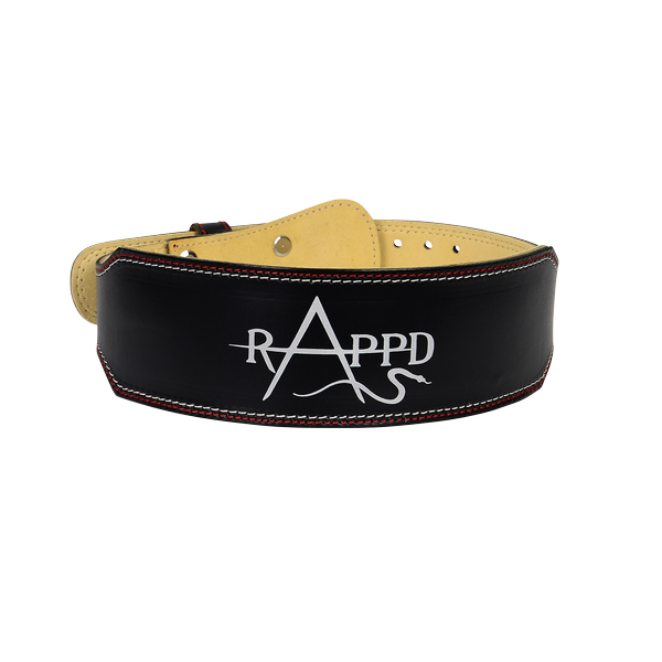 "RAPPD 4"" Leather Weightlifting Belt"