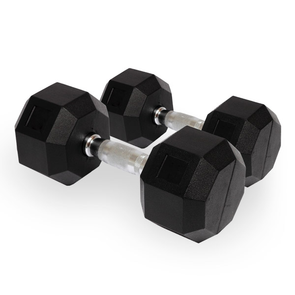 Rubber Hex Dumbbells **Available IN-STORE ONLY**